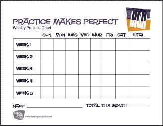 Intrepid image for printable music practice log