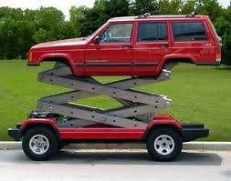 Jeep with a lift