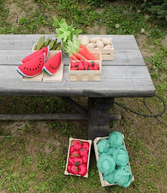 #FarmersMarket #PretendFood #FreshMarket #PlayShop #Grocery
