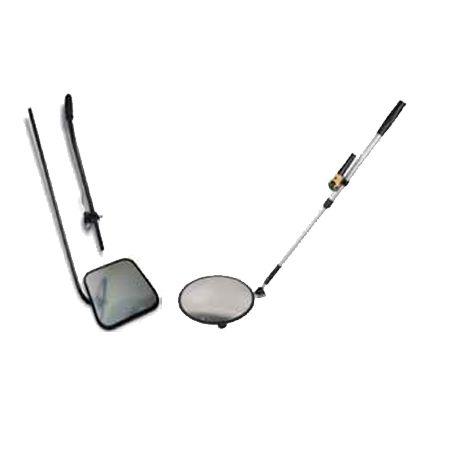 Boyutlar: (Ø) 300 mm Malzeme: Al - Akrilik Lens Akrilik Dış Bükey Ayna Küresel Çok Yönlü Tekerlek Teleskopik Alüminyum Sap ve Gövde, Lastik çerçeve LED El Feneri