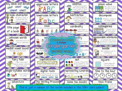 Crazy for First Grade: Common Core and More Kindergarten and First Grade Content Word Wall!!
