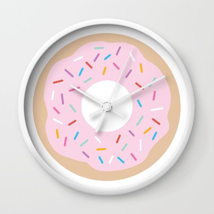 Rise & Shine Donut Wall Clock
