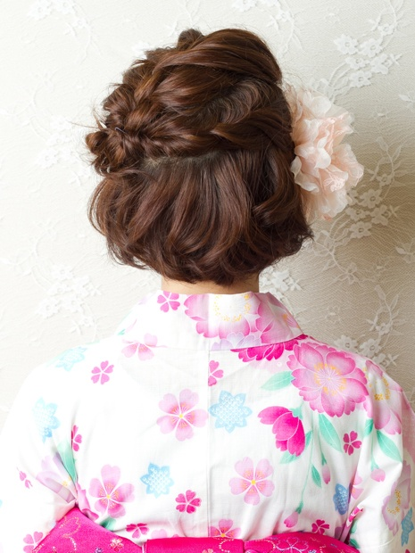 ラフで上品なボブアレンジ-apish jeno-夏到来!浴衣 Style-Cendrillon