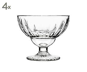 Set di 4 coppe da dessert in vetro Elise - 13x11 cm