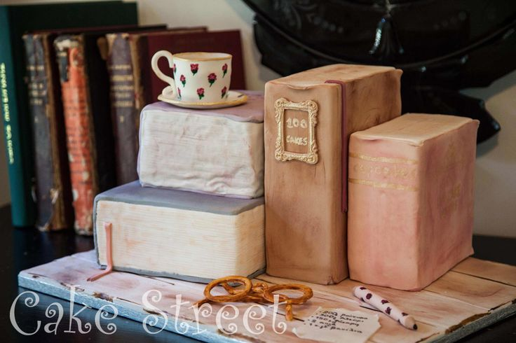 Vintage Antique Books Cake!