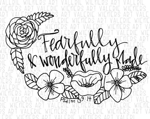 25 best ideas about psalm 139 14 on pinterest fearfully for Psalm 139 coloring page