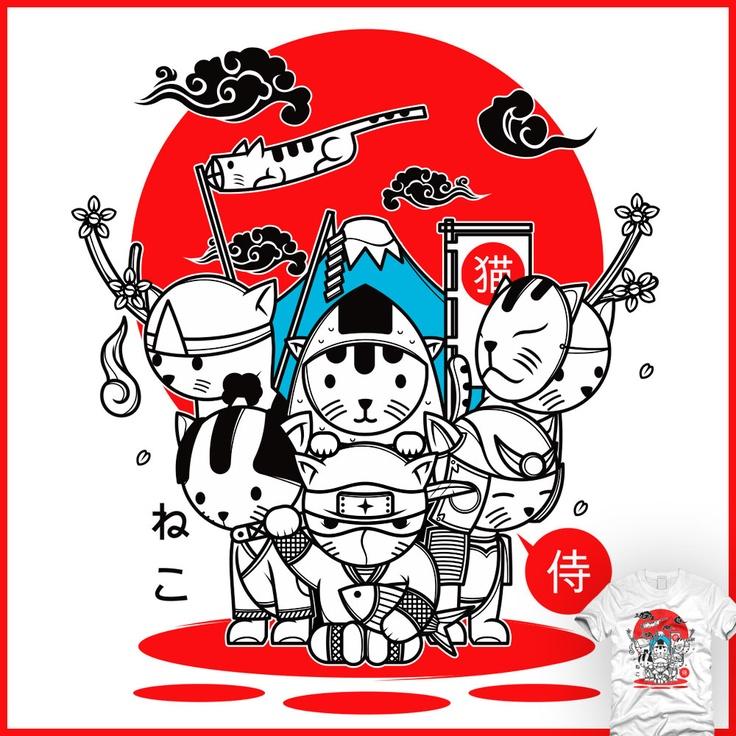 cats rules japan - un design laFraise original de ghozai