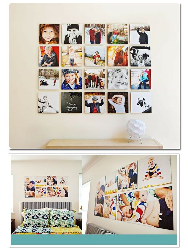 Especially love that square grouping.: Photos, Photo Collage, Wall Art, Photo Display, Idea, Family Picture Walls, Photo Walls, Wall Display