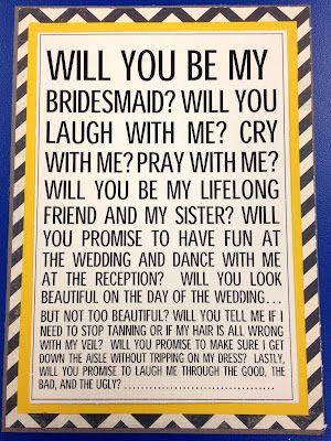 Cute bridesmaid invite