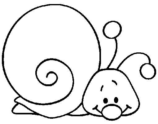 Diversos desenhos de caracol para imprimir e colorir - Desenhos e Riscos