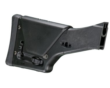 The Magpul PRS2 (Precision Rifle/Sniper) – FAL Model is a drop-in, precision-adjustable butt stock especially designed for metric pattern FN FAL rifles and its variants. Designed to offer the fine-tuned, customized feel of a precision target stock, the PRS2 is adjustable for both cheek riser height and length-of-pull without sacrificing the durability necessary to withstand the operational environment.