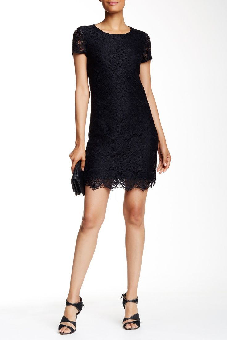 Laundry By Shelli Segal - Short Sleeve Lace Shift Dress at Nordstrom Rack. Free Shipping on orders over $100.