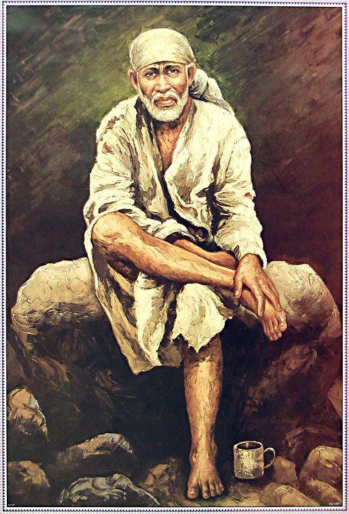 Shirdi Sai Baba (Reprint on Paper - Unframed))