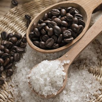 Take Down Cellulite With This DIY Coffee Bean Body Scrub Ingredients: 1 cup coffee grounds 1/2 cup white or brown sugar 1 cup coconut oil  Directions: Mix all the ingredients together thoroughly. After you've washed your hair and body, massage the scrub on wet skin and rinse with warm water. Your skin will be soft, hydrated, and ready to be bared in your favorite warm-weather ensembles.
