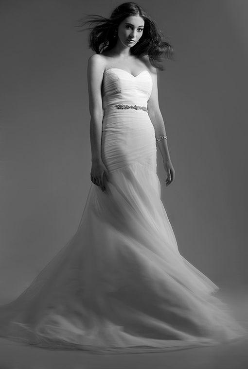 Ellie  - the wow shot. Still loving this image and dress from a few collections ago. simple rouched tulle created a timeless classic