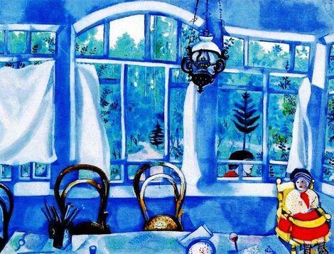 Marc Chagall, Window over a  Garden, 1917 on ArtStack #marc-chagall #art