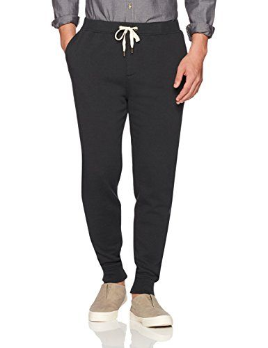 Goodthreads Men's Fleece Jogger Pant Black Large