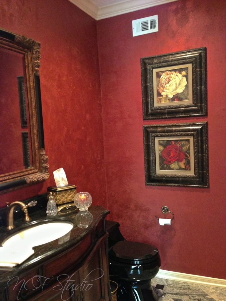 modern masters red metallic plaster on guest bath walls by ncf studio of decorative art - Walls By Design