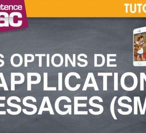 Les options de l'application Messages (SMS) • iPhone (tutoriel vidéo)