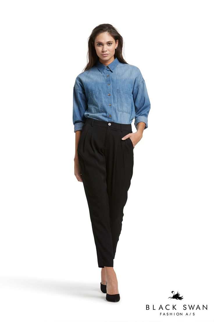 Jamie denim shirt and Jessie pant Black Swan Fashion SS17