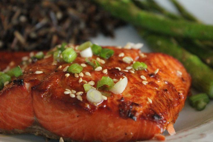 My whole family loves salmon and this is definitely one of my favorite recipes. It only takes about 10 minutes to cook and is so flavorful! Don't forget to let this marinate for at least 30 minutes. A simple vegetable side and some wild rice pair is all you need to round out this meal. I buy my wild caught salmon at Costco, it's only $8.99/lb for their frozen wild caught Sockeye salmon, compared to about $14.00 everywhere else. Reposted from How Sweet it Is Ingredients * 1 1/...