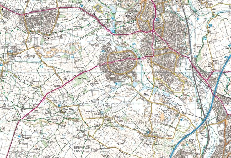 Heanor & Ilkeston, Shipley Country Park & the Nottingham Canal - back of the map