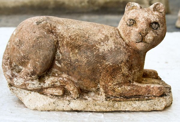 This limestone feline is among some 600 cat statues from a newfound temple dedicated to the Egyptian cat goddess Bastet. The ancient temple was recently discovered under the streets of modern-day Alexandria, Egypt.