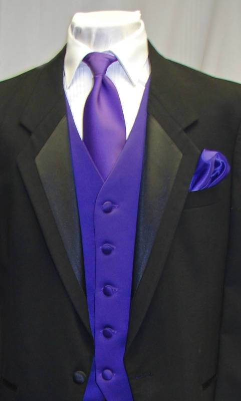 Black And Purple Tuxedo Wedding Ideas Pinterest