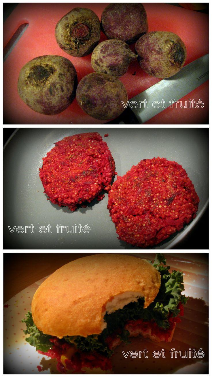 Burgers de betteraves et millet (sans gluten et végan) http://vertetfruite.com/betteraves/
