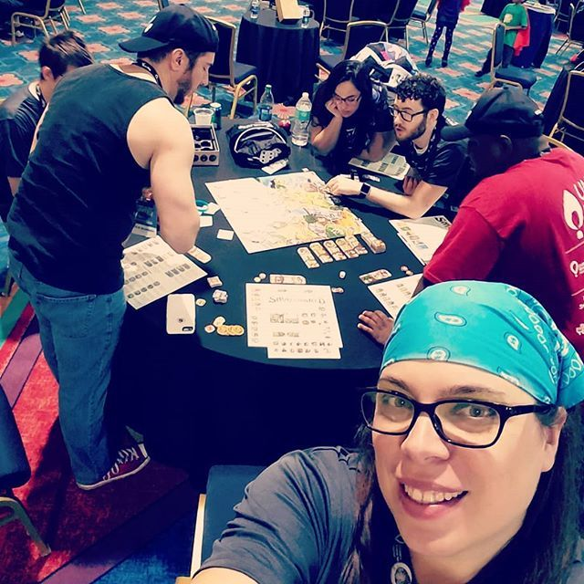 Myself @kylez0rz and @thedirectedition are learning how to play the board game Small World from a few new friends. #extralife #extralifeunited #extralifeunited2018 #chw #childrenshospitalsweek #childrensmiraclenetwork #cmnjax @cmnjax @wolfsonchildren #ufhealthjax