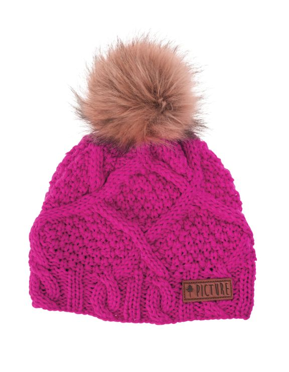 Picture Organic Clothing Winter, Snowboard Ski Beanie, Judy, Pink | f riders inc