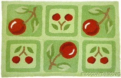 17 best ideas about cherry kitchen decor on pinterest red and white kitchen red and white and for Kitchen rugs with fruit design