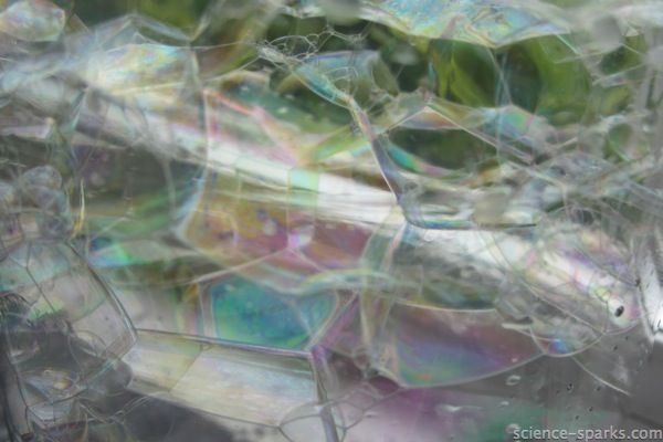 Make rainbow bubbles and find out about white light