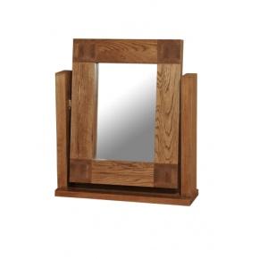 Tokyo Solid Oak MRDTM1 Single Pedestal Dressing Table Mirror  www.easyfurn.co.uk