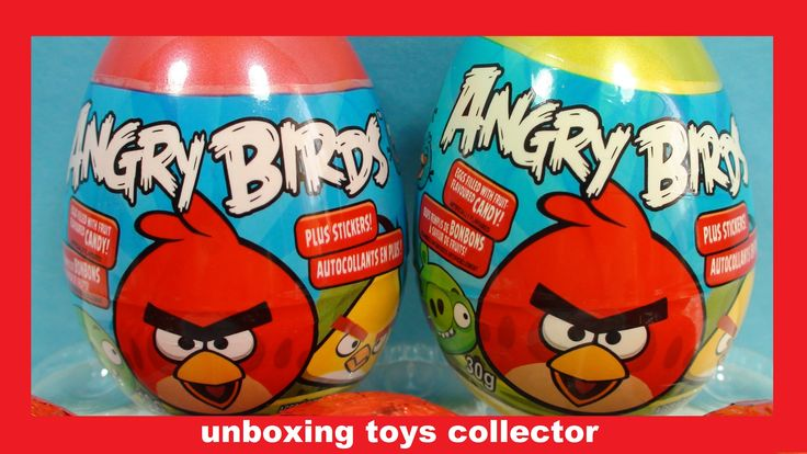 Angry Birds Chupa Chups Funtoys Review Surprise Eggs Learn Angry Birds C...