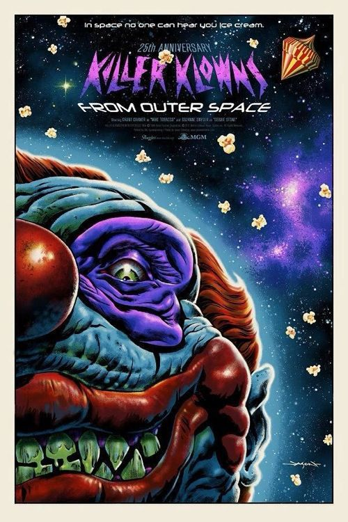 Killer klowns from outer space poster by jason edmiston for Outer space urban design