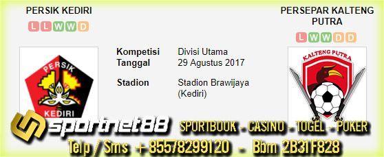 Prediksi Skor Bola Persik Kediri vs Persepar Kalteng Putra 29 Agt 2017 Divisi Utama di Stadion Brawijaya (Kediri) pada hari Selasa jam 15:00