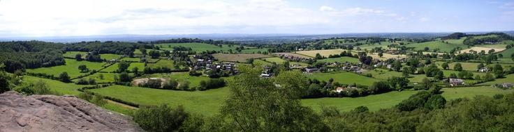 Nigel's back garden when he was little! Bickerton Hill