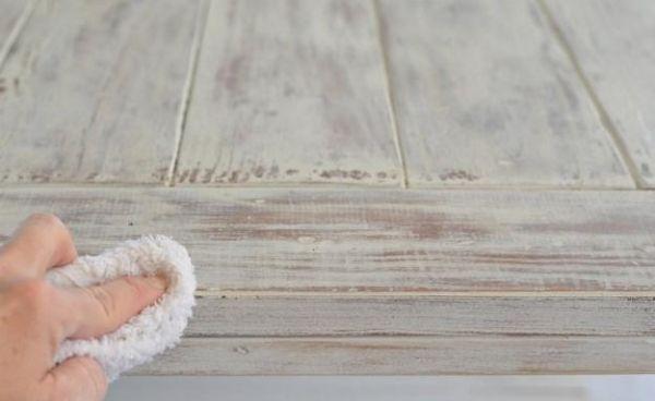 shabby chic möbel look selber machen laken weiss farben