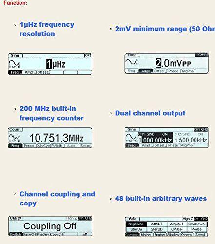 Changlong instrument® RIGOL DG1022U Arbitrary Waveform Function Generator 25Mhz Harmonic Sine 2 Channe