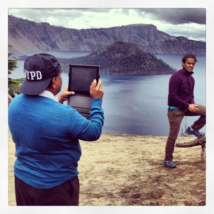 Crater Lake photo queue