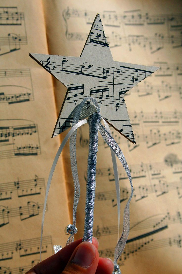 A personal favourite from my Etsy shop https://www.etsy.com/uk/listing/524907240/vintage-musical-score-star-wand-wedding