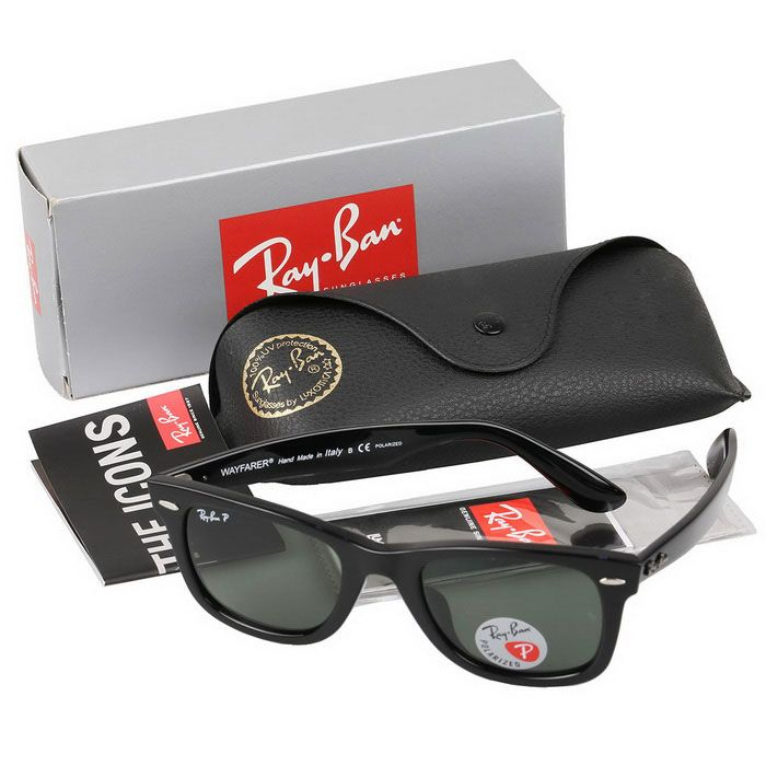 Ray-Ban RB2140F901 / 58 52M Polarized UV400 Protection Hikers' Sunglasses - Black + Dark Green