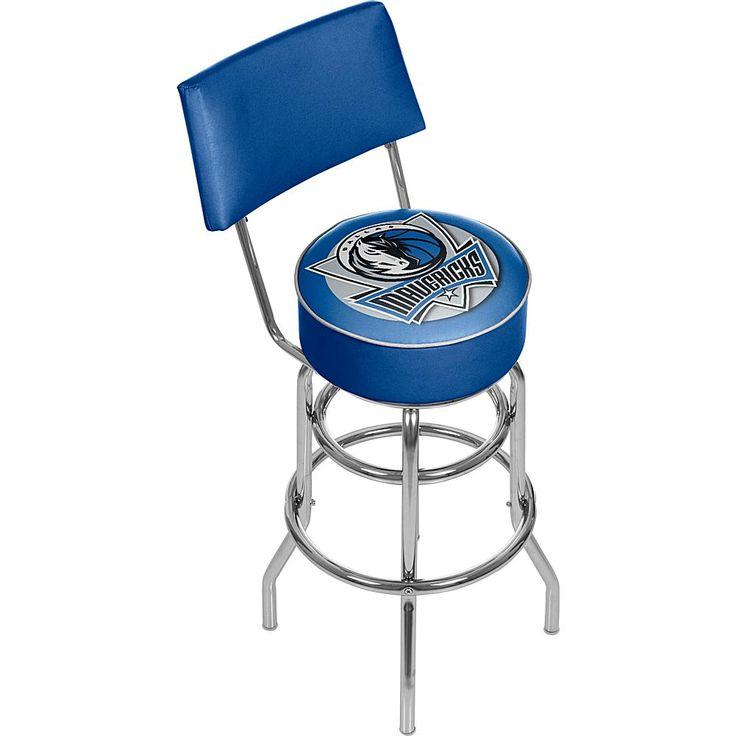 Trademark Global, Inc. Dallas Mavericks Padded Swivel Bar Stool with Back