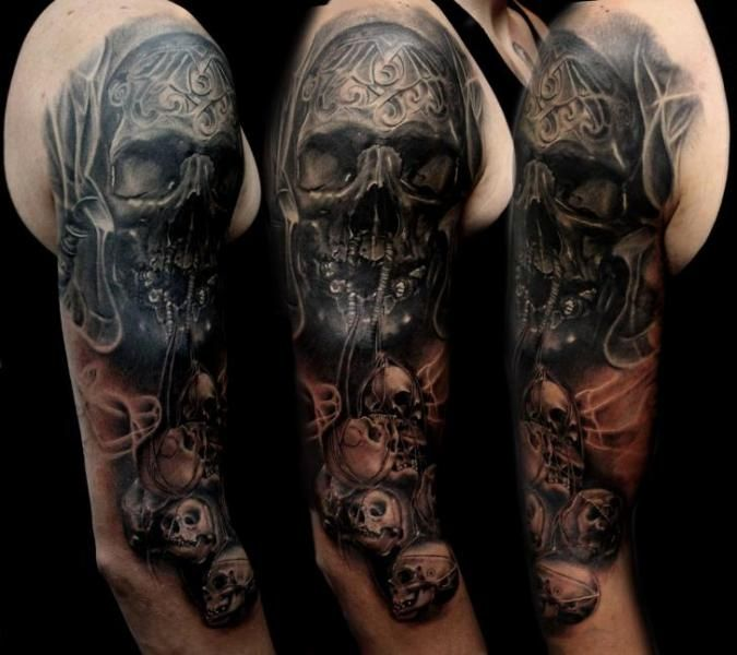 37 best shoulder skull tattoos images on pinterest skull for Custom ink tattoos