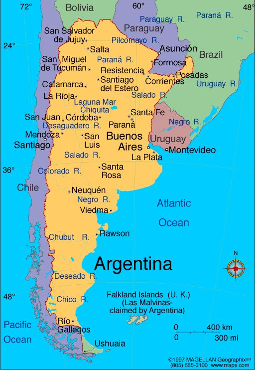 Best SOUTH OF THE BORDER Images On Pinterest South America - Map 0f argentina