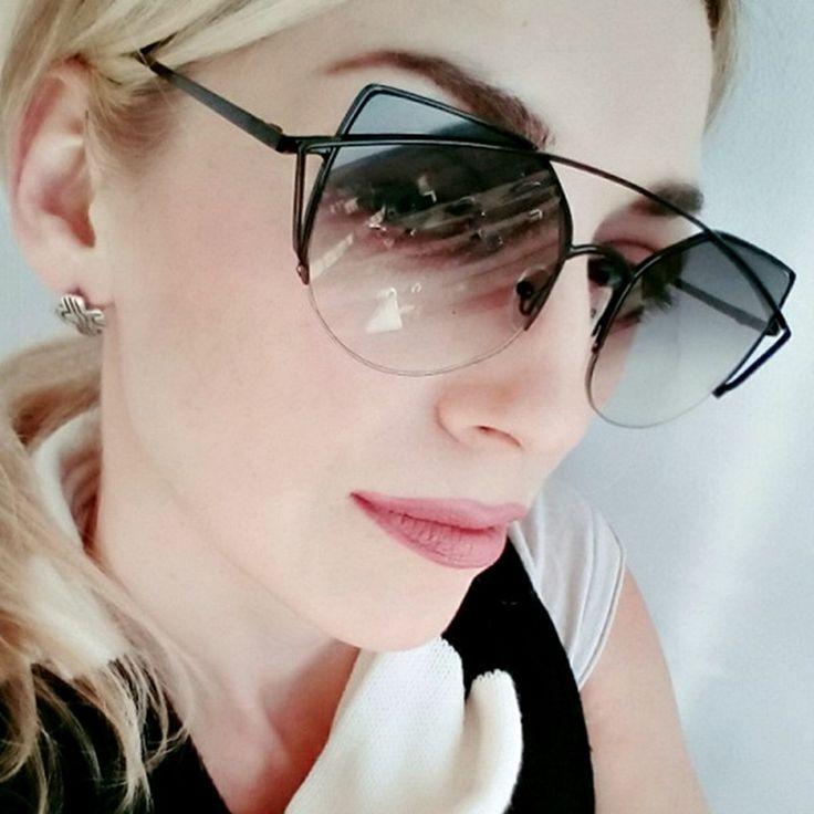 Sunglasses <b>Women Luxury Brand Designer</b> Metal Original ...