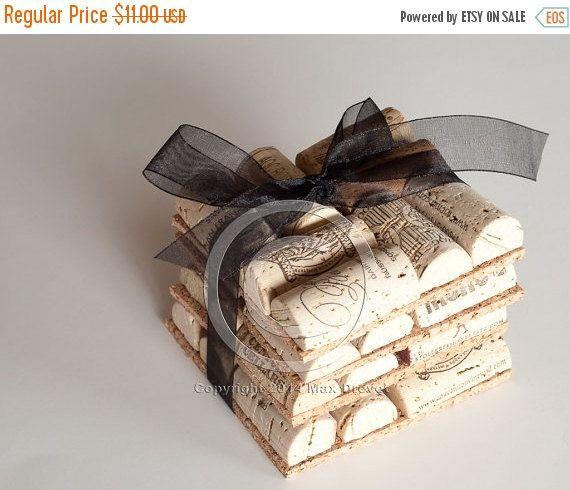 SALE Wine Cork Coasters Set Of Four Wedding Favor Wholesale Crafts