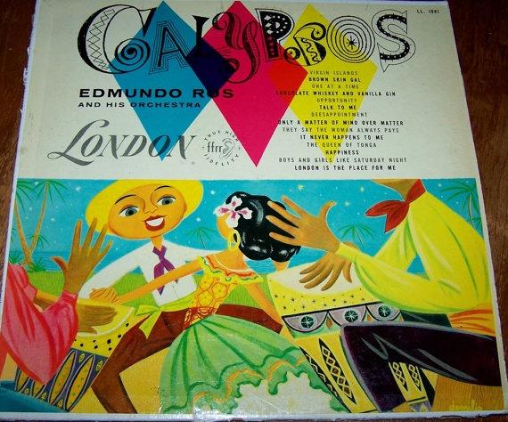 Calypso Music Vintage Record Album (cute cover)