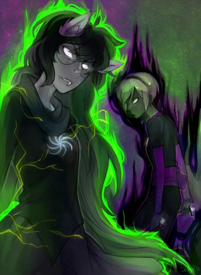 Homestuck - Grimdark!Jade and Grimdark!Rose | Homestuck ...  Homestuck - Gri...